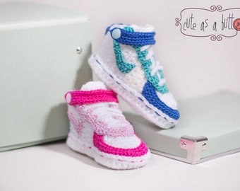 Cute as a button Sneakers 2.0 US CROCHET PATTERN