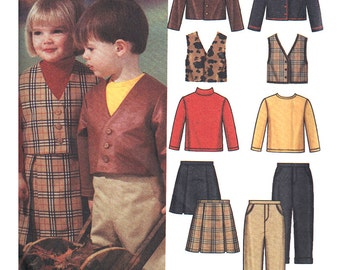 Simplicity Sewing Pattern 5906 Toddlers' Pants,Skirt, Jacket, Vest, Knit Top Size:  A  1/2-1-2-3-4  Uncut