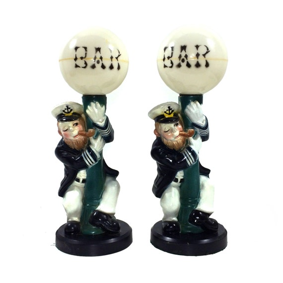 Vintage Bar Lamp Post Drunk With Sea Captain