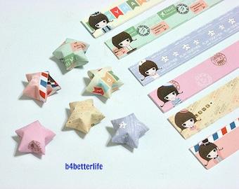 180 strips of DIY Origami Lucky Stars Paper Folding Kit. 26cm x 1.5cm. #K007. (XT Paper Series).