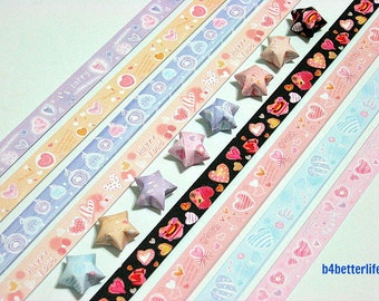 250 strips of DIY Origami Lucky Stars Paper Folding Kit. 26cm x 1.2cm. #A071. (XT Paper Series).