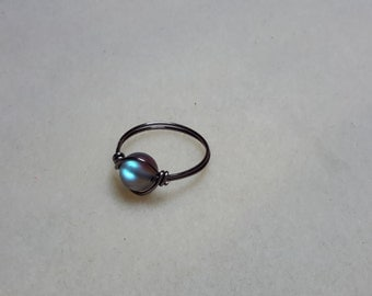 Night moon ring