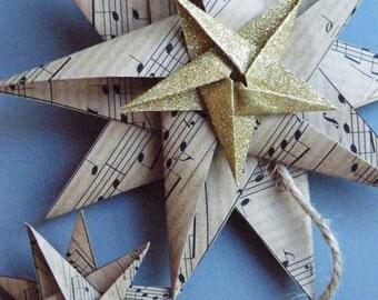 Paper Star hanging decoration, wedding decoration, christmas decoration.