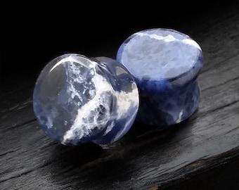 Sodalite Stone Plugs 6GA to 1 inch
