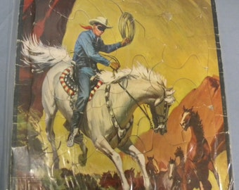 The Lone Ranger, tray puzzle 1956