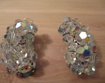 Sparkling Crystal Clip-on Earrings
