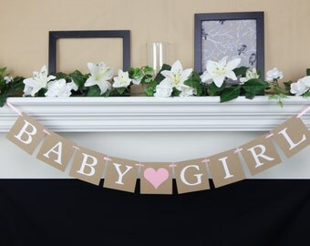 Baby Girl Banner, girl baby shower decoration, baby shower sign,baby shower banner,girl baby banner,baby shower decorations, its a girl