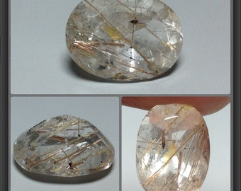 Quartz with Inclusion - faceted - 6.25ct