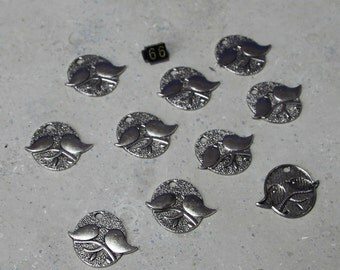 10 Birds (mate for life)Charms #66
