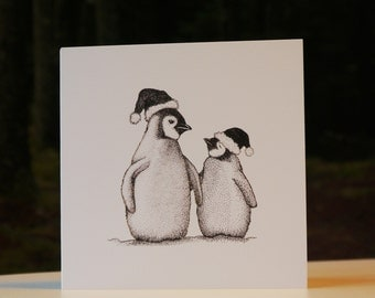 Baby Penguins Christmas Card