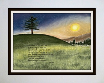 Inspired Spaces: Famous Quotes Paired with Original Artwork - Sun and Shadow / Rumi