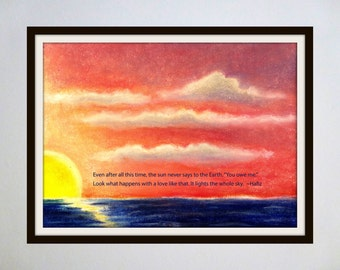 Inspired Spaces: Famous Quotes Paired with Original Artwork - Sun / Hafiz