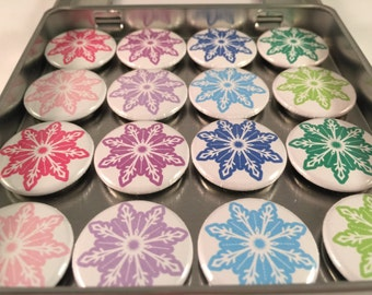 Colorful Snowflake Magnets