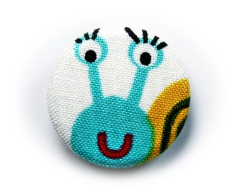 PIN back button or magnet snail