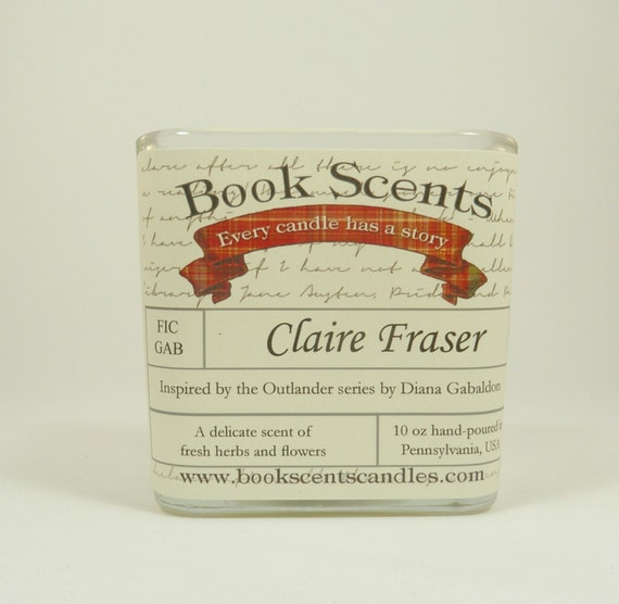 Claire Fraser - Book Inspired Candle - Hand-poured, 10 oz soy blend container candle