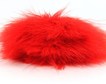 Red Marabou Feather trim, red feathers, marabou feather trim with satin ribbon binding,costume trim,marabou feathers,costumes,crafts