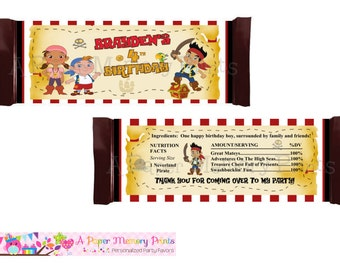 Jake and The Neverland Pirates Candy Wrapper - DIY Printable