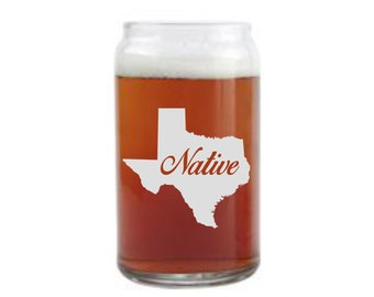 State love with Native engraved in your state etched glass, state glass,state love, state gift,state gift,local gift,local glass,state beer