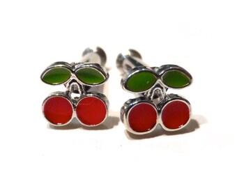 10g Cherry Plug Earrings