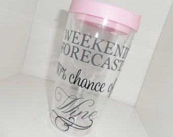 Weekend Forecast: 100% chance of wine vino 2 go tumbler