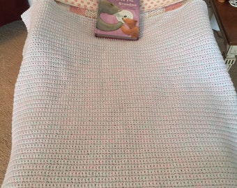 CottonCandy Crocheted Throw Blanket - Todddler Bed, Crib, Car Seat or Stroller and child/teen/adult lap