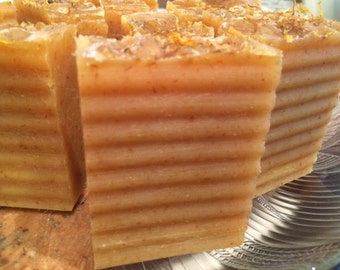 Calendula All Natural Cold process Soap with essential oils of Orange and Lemongrass - Vegan