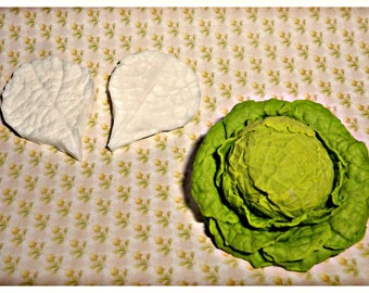 1:12 Mold cabbage leaf (2 molds) Dollhouse miniature