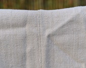 Vintage Hungarian sheet in slubby, pale oatmeal linen