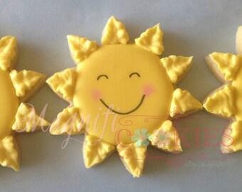 Happy sunshine decorated cookies