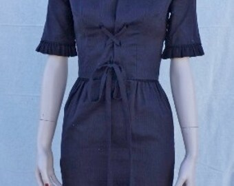 40s Couture Wiggle Dress /Dead stock Helen Whiting 40s Pin Up Dress / Atomic Age Pencil Bombshell Dress / Designer 50s Pencil Dress 36x27x38