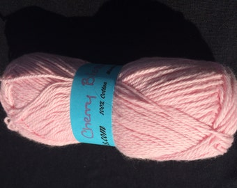 100% Cotton Sock Yarn in Cherry Blossom