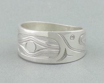 Hummingbird Ring - Northwest Coast Native Indian