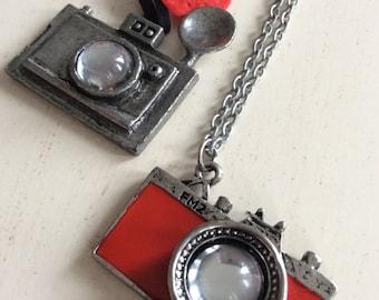 Take a picture. camera necklace, mini SLR camera