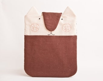 Brown Cat Macbook Pro Case, Custom Case, MacBook Pro 15 sleeve, Laptop Case, Brown Asus Laptop Sleeve Acer Chromebook Case Gifts for Her