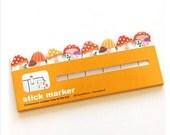 Mushroom Sticker Post-It Bookmark Point It Marker Memo Flags Sticky Notes/ Filofax