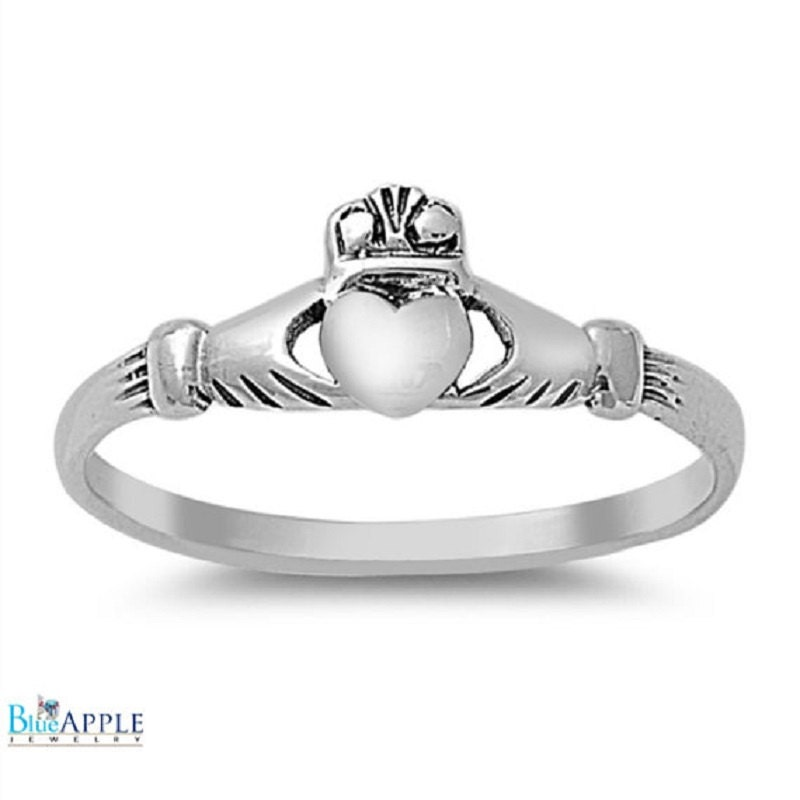 Promise Claddagh Wedding Engagement Ring 925 Sterling