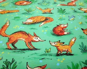 Woodland Fox Wrapping Paper // animals gift wrap