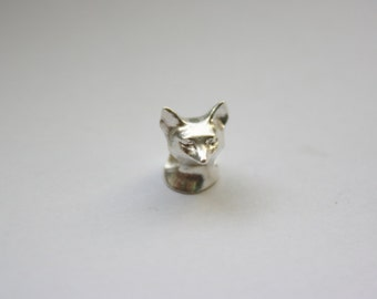 SECONDS Sterling Silver Fox Big Hole Bead Charm Fits Pandora, Troll etc