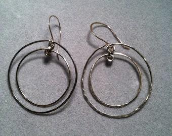 Double Round Hoop Earrings
