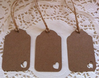 50 Handmade Vintage Style Gift Tags/Wedding Favour