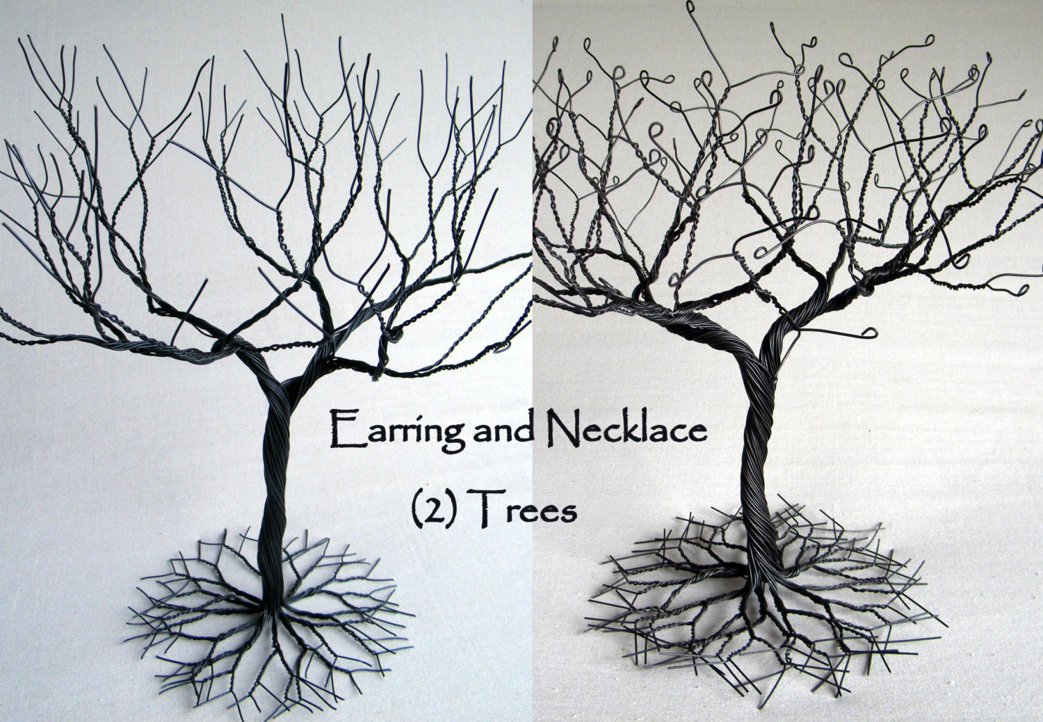 how to make a wire tree jewelry stand