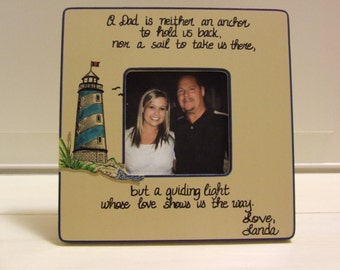 Father's Day Gifts Gift Lighthouse nautical frame Personalized frames for Dad Daddy Frame to Dad from Son Dad from daughter Gifts for Dad