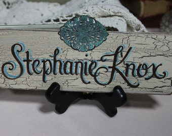 3x9 Custom Made, Hand Painted, Desktop Name Plate Sign