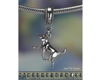 Harrier Hound Foxhound Charm or Charm Bracelet .925 Sterling Silver