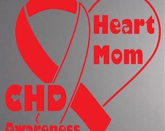 Heart Mom CHD Awareness Decal