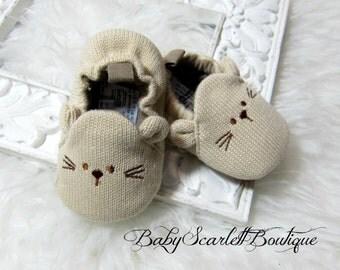 Infants Toddler Baby Knit Crib Shoes Newborn Boy Girl Cartoon Shoes Elastic