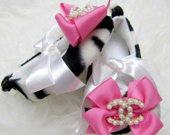 Adorable Zebra Baby Girl Shoes