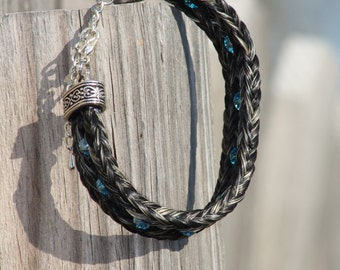Simply Stunning - Double Horsehair Bracelet with Beads - Custom