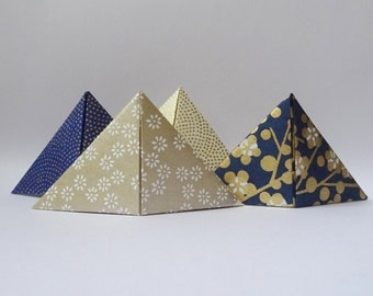 Lot 4 bookmarks origami Japanese paper.