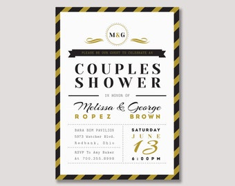 Wedding Shower, Couples Shower Invitation, Couples Wedding Shower Invite - WDS02